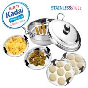 Kaizen Stainless Steel Multi Kadai-Sandwich Bottom