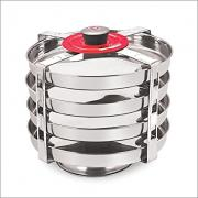 Marvel Stainless Steel Dhokla Plate Outer Lid