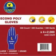 Sunset - Clear Polyethylene Gloves without Powder Medium