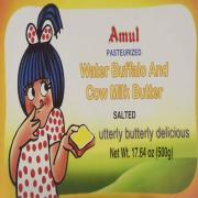 Amul Water Buffalo and Cow Butter (20 Count of 500 GM Each)